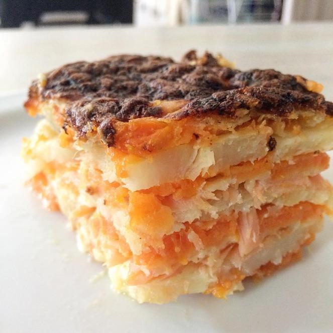 gratin de patate douce et panais-bio